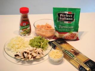 Ingredients forpasta